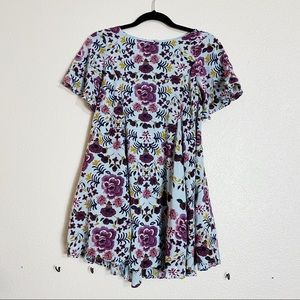 KIMCHI BLUE URBAN OUTFITTERS floral babydoll dress